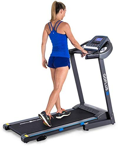 Goplus 2.25HP Electric Folding Treadmill with ...