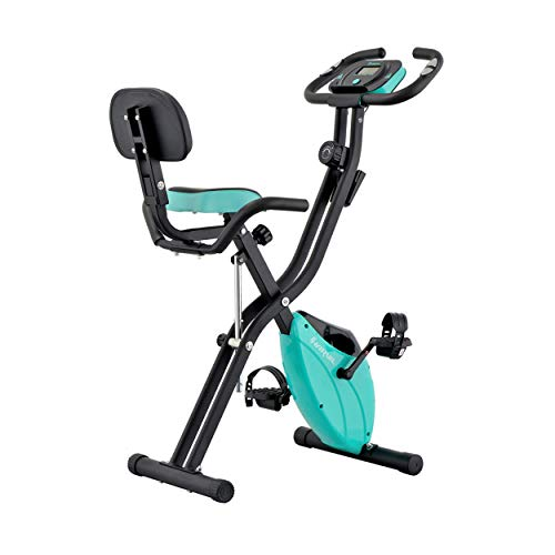 Harvil Foldable Magnetic Exercise Bike with ...