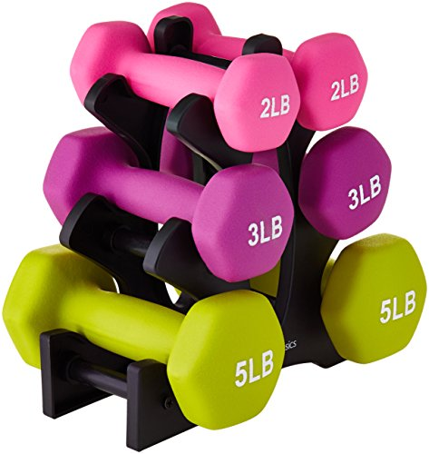 AmazonBasics Neoprene Dumbbell Pairs and Sets with