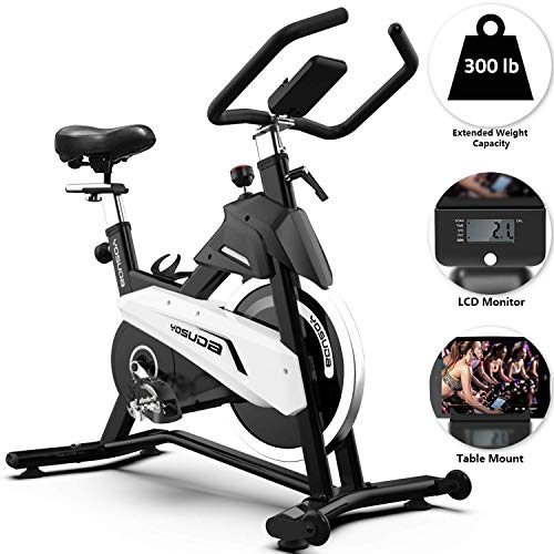YOSUDA Stationary Exercise Bike 43Lbs Flywheel ...