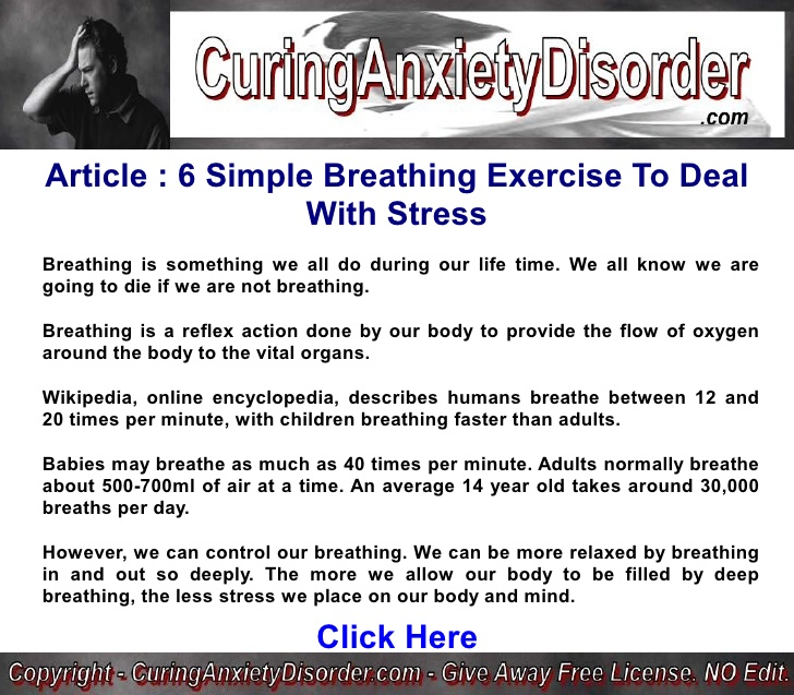 6 Simple Breathing Exercise To Deal With Stress